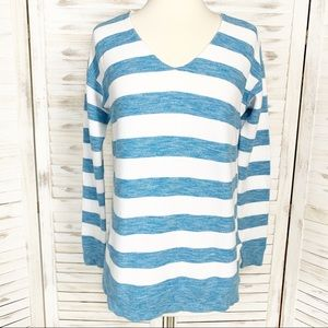 Vineyard Vines | Blue & White Striped Cotton Top